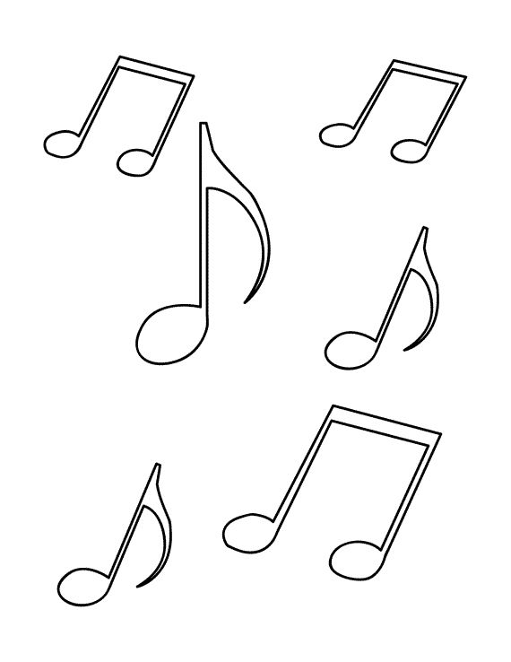 Music Note Coloring Pages - Kidsuki