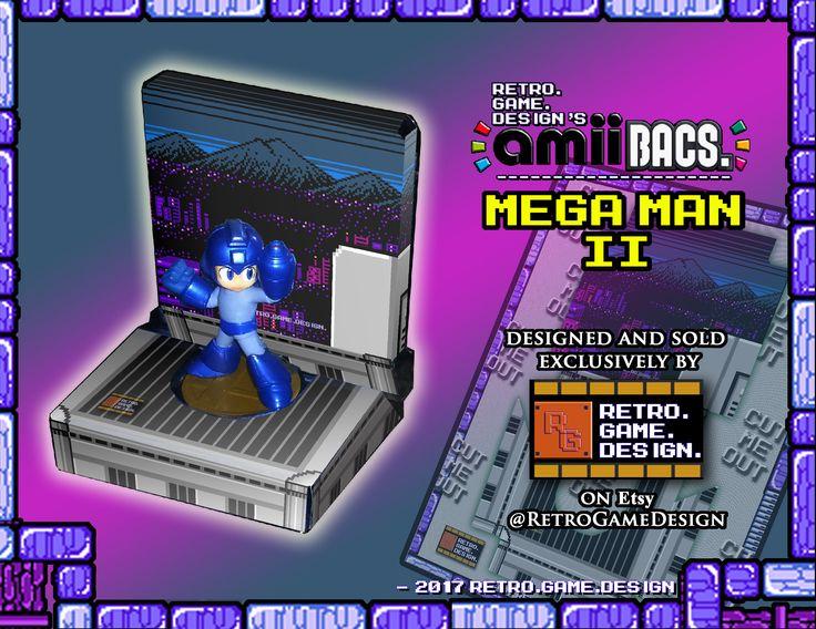 Super Smash Bros Mega Man AmiiBac (Mega Man II Title Screen) by RetroGameDesign on Etsy