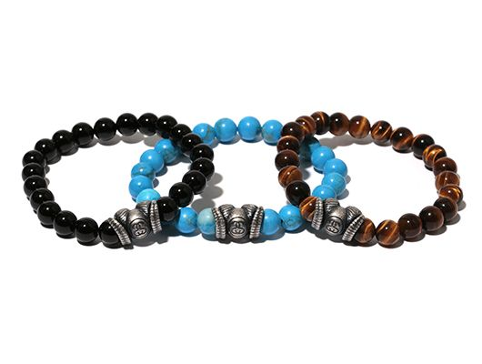 STUSSY products by JAM HOME MADE CO.,LTD. Sheep Beads Bracelet