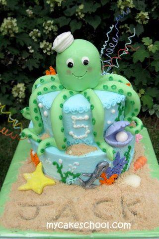 Super cute octopus cake
