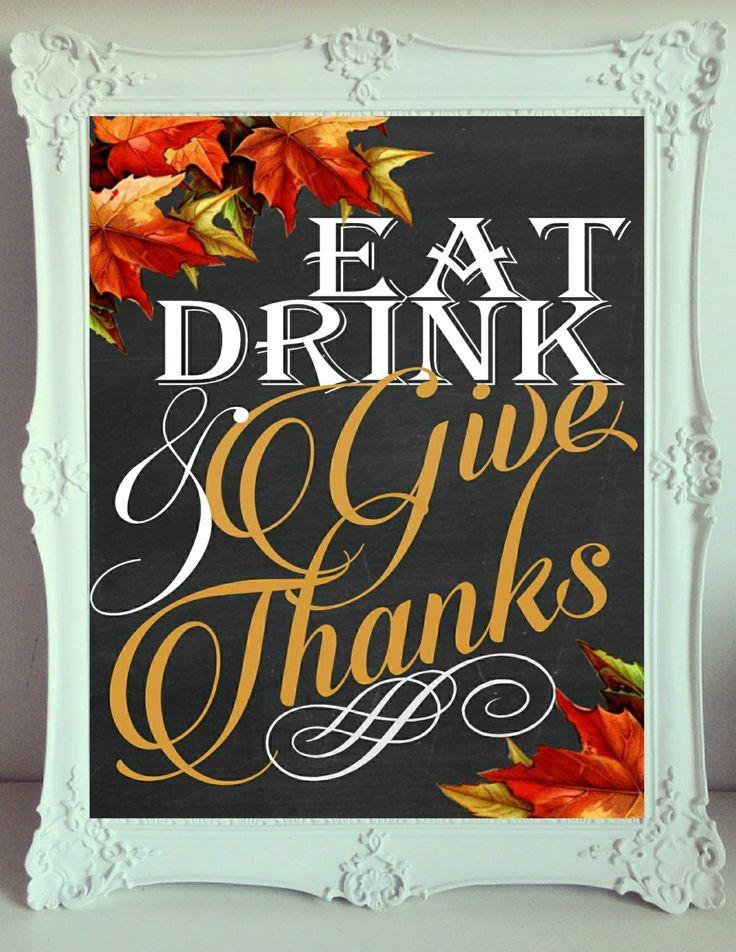Fall Thanksgiving Printable Sign 8x10 Birthday