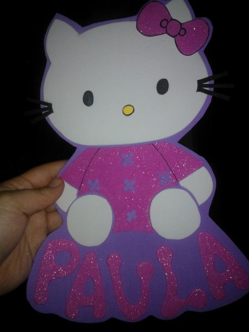 Fofuchas laestrellarosae, cartel hello kitty