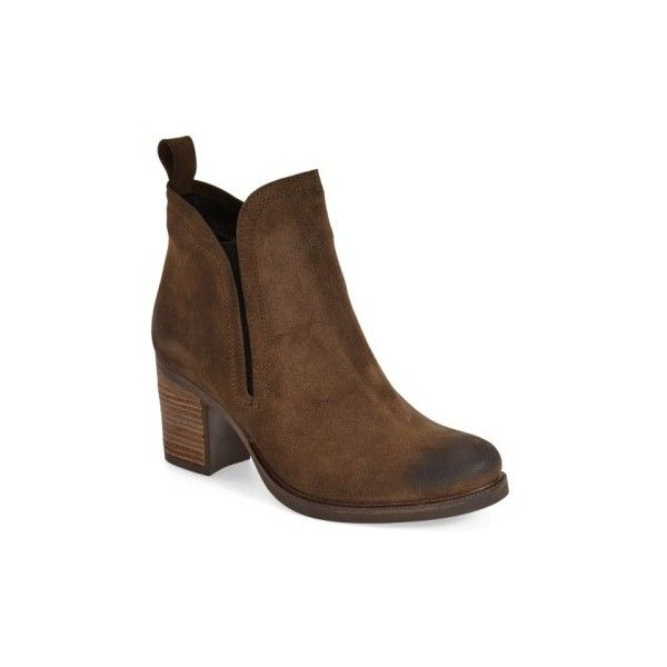 BOS. & CO. 'Belfield' Waterproof Chelsea Boot (11,955 INR) ❤ liked on Polyvore featuring shoes, boots, ankle booties, stacked heel booties, platform chelsea boots, suede boots, platform ankle booties and suede platform boots