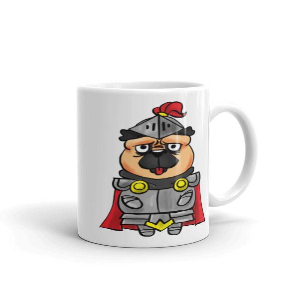 Pug In Shining Armor Mug