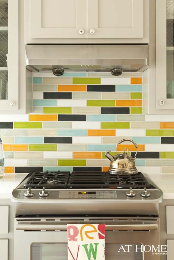 colorful backsplash