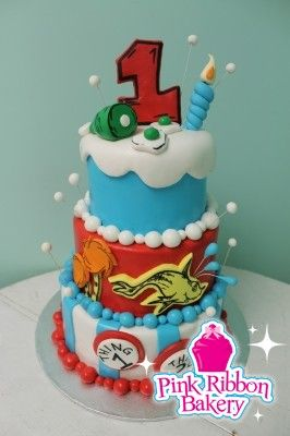 dr suess birthdsy cakes | Seuss Birthday Cakes on 1st Dr Seuss Birthday Cake