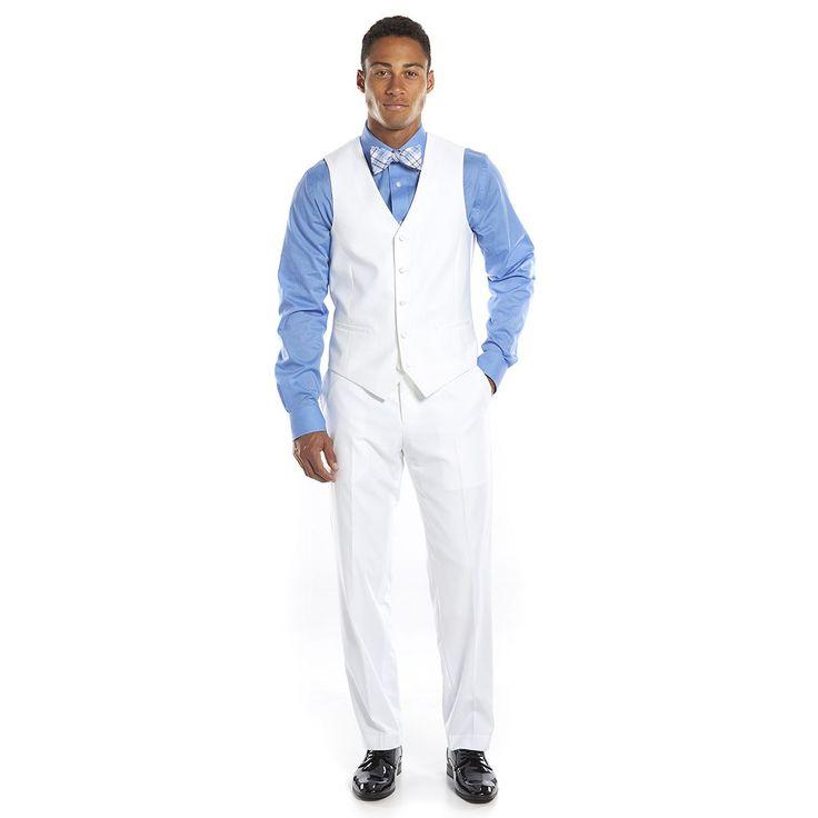 Savile Row Slim-Fit White Tuxedo Vest - Men, Size: Medium