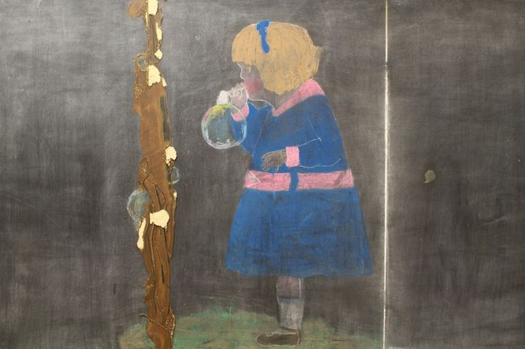 Haunting chalkboard drawings, frozen in time for 100 years, discovered in Oklahoma school - The Washington Post