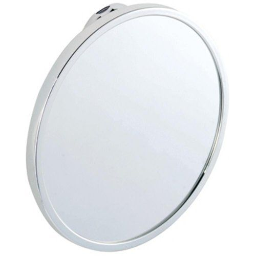 """Stick 'N' Lock Anti-Fog Mirror by Croydex. $19.20. QM381041 Features: -Anti-fog mirror.-Chrome plated mild steel.-Screw fix fits to any surface including uneven textured tiles.-Easy to fit. Includes: -Screw pack and fixing instructions included. Color/Finish: -Sticky pad adheres to most flat finished surfaces such as gloss paint, tiles and laminates Unsuitable for some unfinished materials such as brick, blockwork and loose, flaky surfaces. Dimensions: -Dimensions: 6.1"""" ..."""