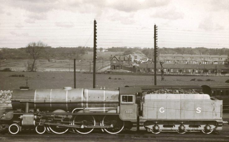 """Train passing """"The Ranch"""" before Ballyfermot was built. Probably late 1930s."""