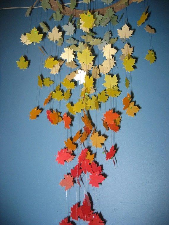 Autumn Leaves Paper Chandelier/Mobile-LARGE
