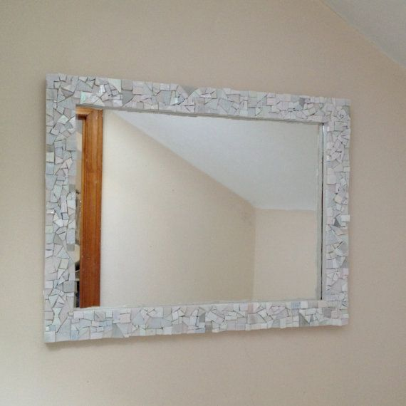 Hey, I found this really awesome Etsy listing at https://www.etsy.com/listing/156437618/mosaic-white-wall-mirror-decorative