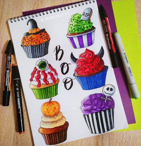 Boo! Trick or treat? А какой бы выбрали вы ?) #janekit_art #art #trickortreat #artist #illustration #leuchtturm1917 #copic #touchmarker #copicart #markers #sketchmarker #sketchmarkersclub #draw #food #halloween #рисуюназаказ #sketchzone #cupcakes #drawing #sketch #sketchbook #foodart #artwork #иллюстрация #маркеры #скетчбук #ilovesketchmarker #loneliestartplanet