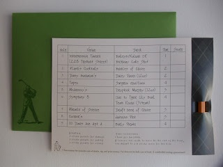 """""""Twenty-FOUR!"""" Pub Golf themed interactive birthday invitations by Warren Tales (with pencil, scorecard, and matching envelope)"""