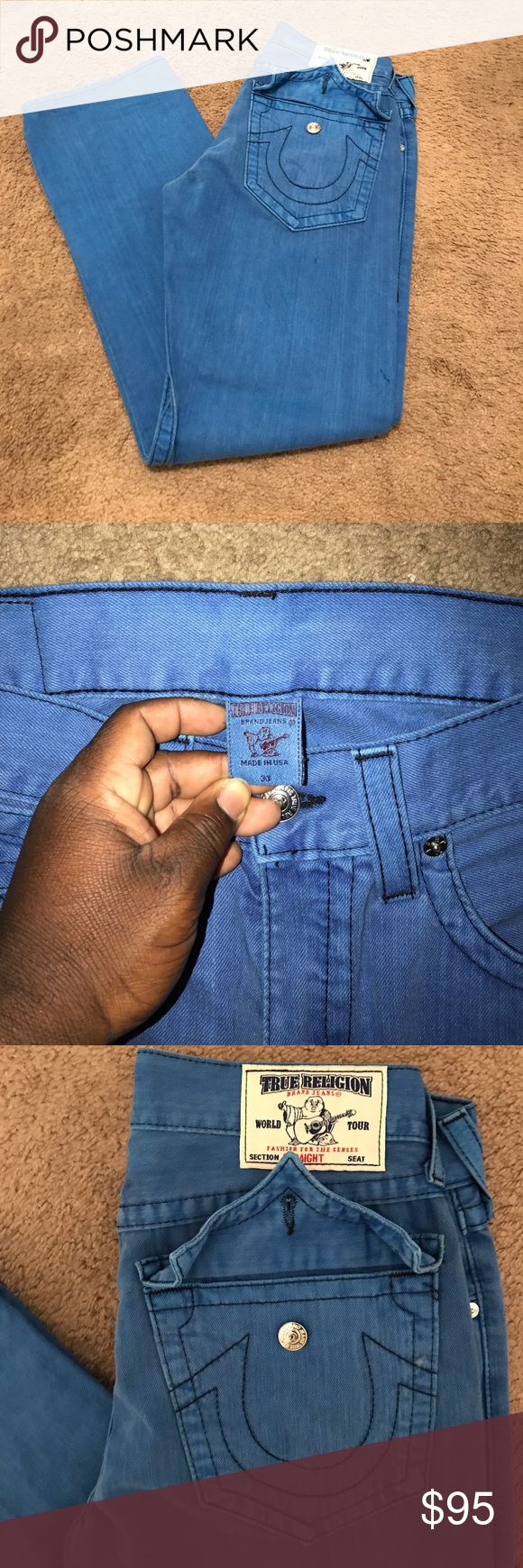 True religion Jeans 100% authentic Brand new true religion jeans light blue size 33 never worn!! Become the first owner today!! True Religion Jeans