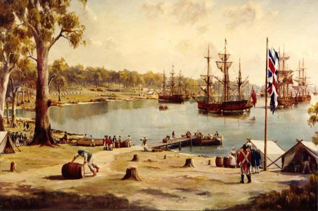 Sydney Cove 1788... First Fleet