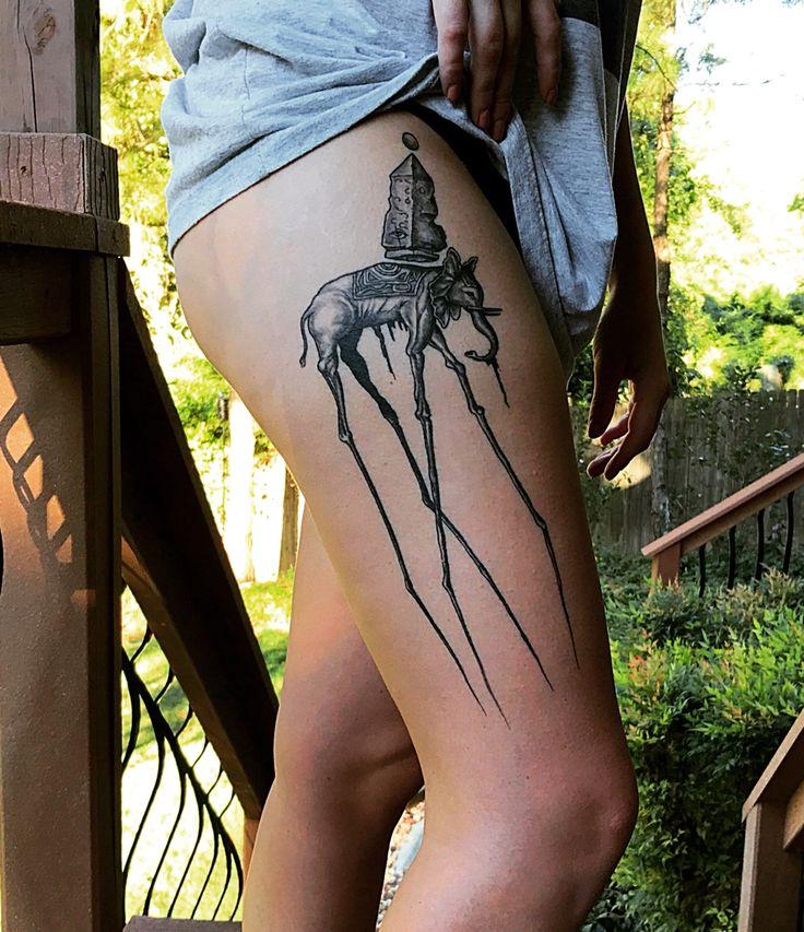 Salvador Dali elephant #tattoo #elephant #dali #salvadordali