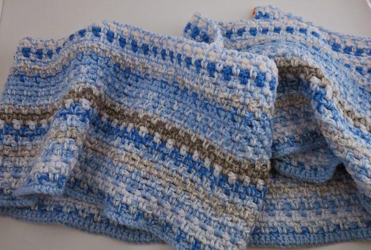 Crochet sky blanket