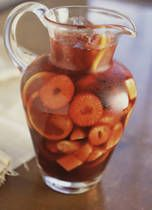 My favorite sangria recipe. The more fruit in it the better.