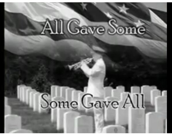 All gave some, some gave all.