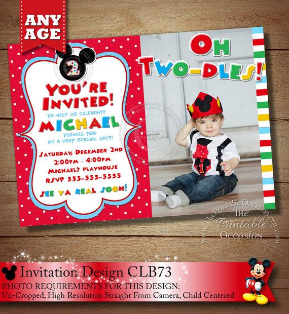 Best Mickey Mouse Polka Dot Birthday Invitations Party - Birthday invitation mickey mouse