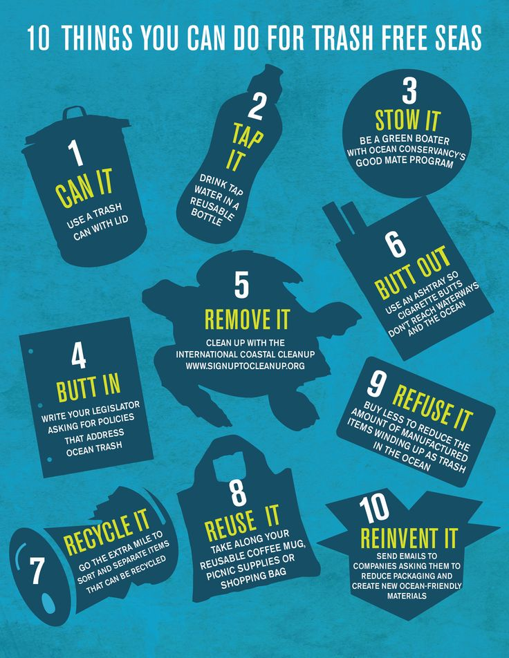 10 thinks you can do for trash free seas !!