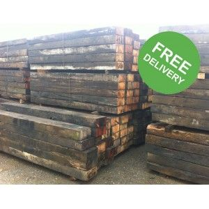 Reclaimed Railway Sleepers - Buy reclaimed railway sleepers online with UK delivery - Trade Locker