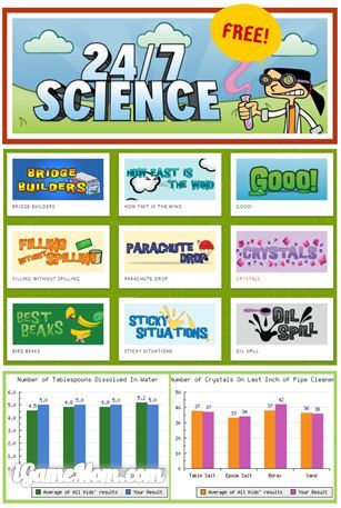 Free science games and activity guides for kids from UC Berkeley Lawrence Hall of Science - access from computer and tablet