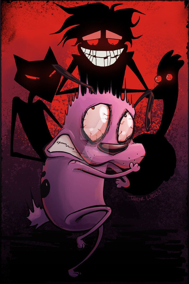 Courage The Cowardly Dog By Taylor The Weird Deviantart Com On