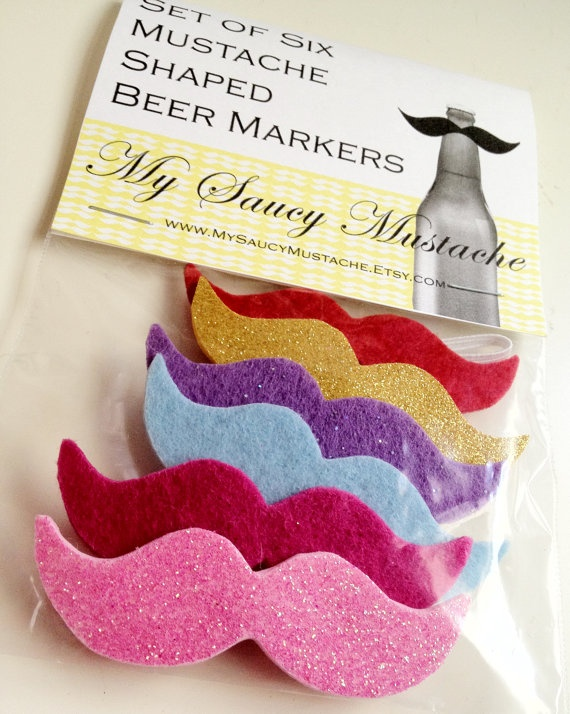 mark your beer.. with a mustache!