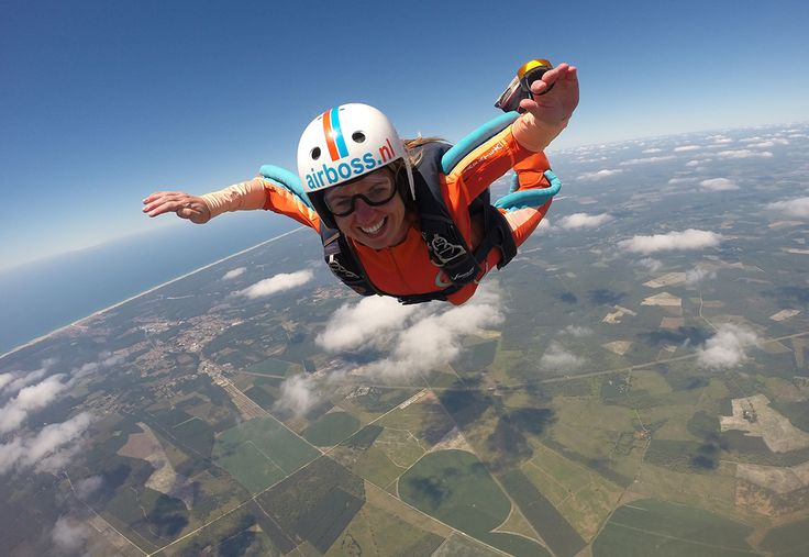 Happy Airboss skydiver