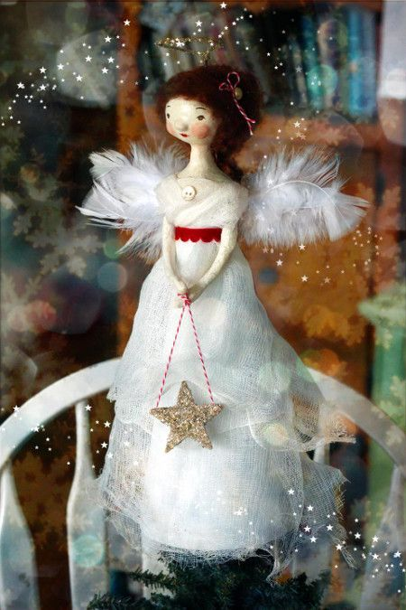 Bring some old-fashioned charm to your Christmas tree this year with this homespun beauty. Make a new Christmas tradition by creating an angel topper of your very own that you're proud to display year after year.
