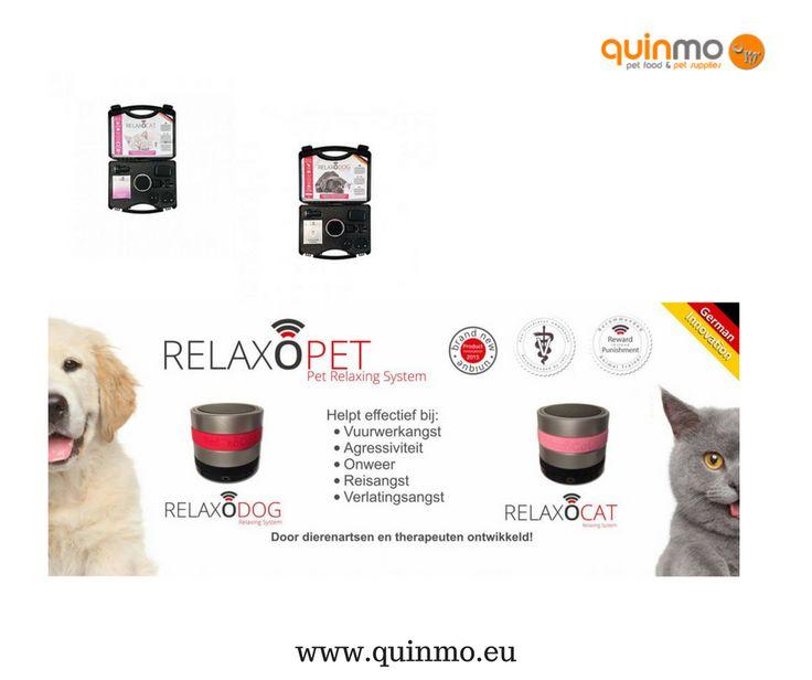 Heb je een kat of hond die last heeft van stress door bijvoorbeeld onweer, vuurwerk enz.... dan is de relexocat en de relexodog iets voor jou huisdier. meer info www.quinmo.nl