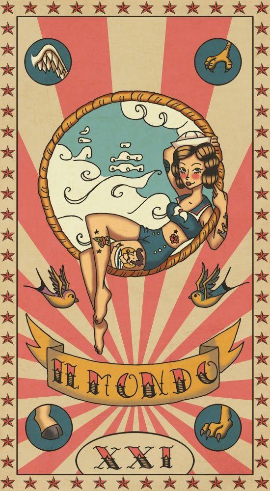 """Tarot """"The world"""""""