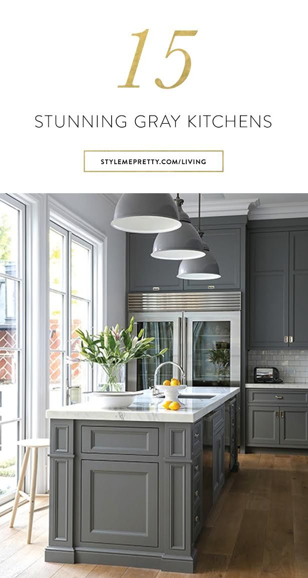 15 stunning gray kitchens to fall for via @stylemepretty