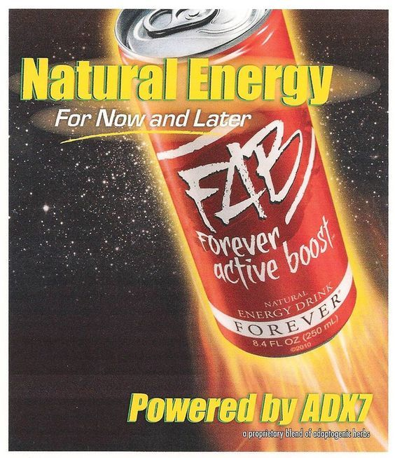 "FAB Forever Active Boost™ Energy Drink FAB is a quick, refreshing way to stay energized and alert all day long. FAB's ""boost"" is different from other energy drinks because it gives you both immediate and long-term energy. https://vimeo.com/89451843 http://360000339313.fbo.foreverliving.com/page/products/all-products/1-drinks/321/usa/en Need help? http://istenhozott.flp.com/contact.jsf?language=en Buy it http://istenhozott.flp.com/shop.jsf?language=en"