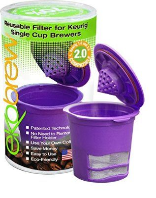 Ekobrew Refillable K-cup for Keurig Brewers, 1-Count