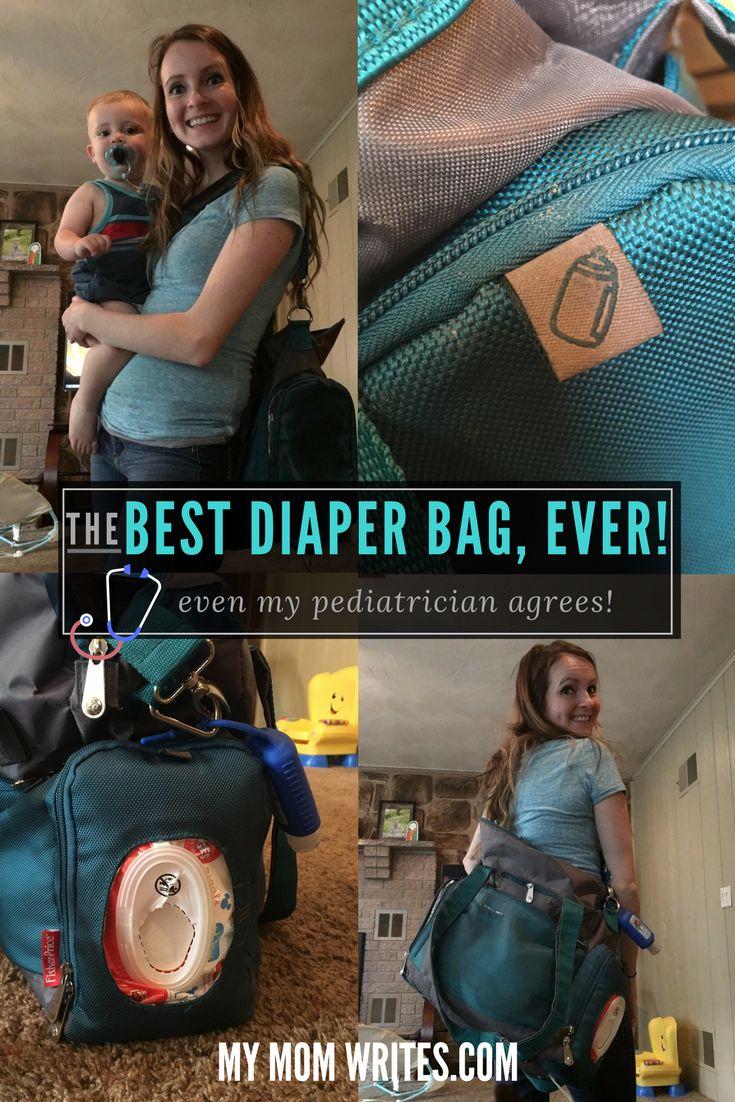 THE BEST DIAPER BAG EVER! Even my pediatrician agrees! -- HappinessInHomemaking.com #diaperbag #bestdiaperbag #toddlerdiaperbag