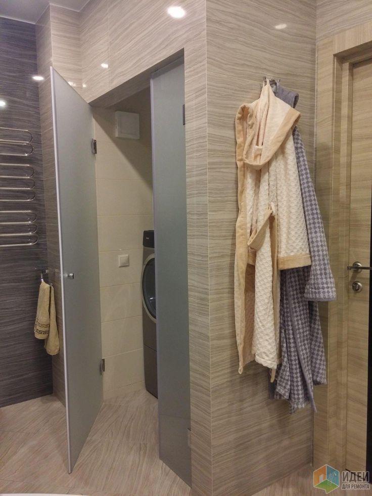 Очередная серая (но с бежевым) ванная комната