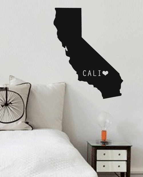 Keep a little piece of home in your home - California heart state wall decal