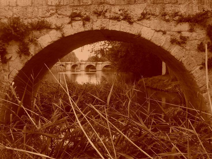 Puente Mayor desde un arco de el de Puentecillas.