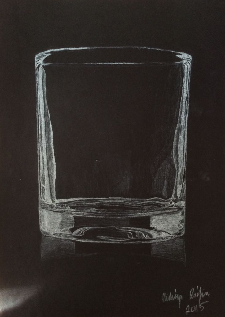 Glass - White charcoal pencil drawing on black paper #glass #whiskyglass #blackandwhite #whitepencil #drawing #blackpaperdrawing #lowkey #minimal #minimalism