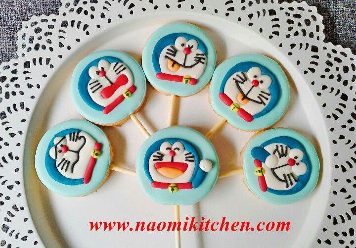 Japanese Dora Cake Recipe: Doraemon Cookies By Naomikitchen