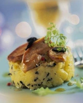 Recette : Foie Gras poêlé sur parmentier de pomme de terre