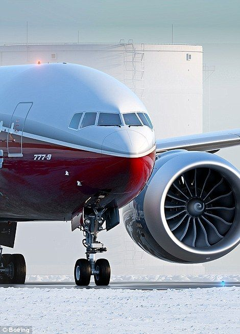 Boeing 777-9X has wingspan so big the tips have to fold so it can use airports | Daily Mail Online