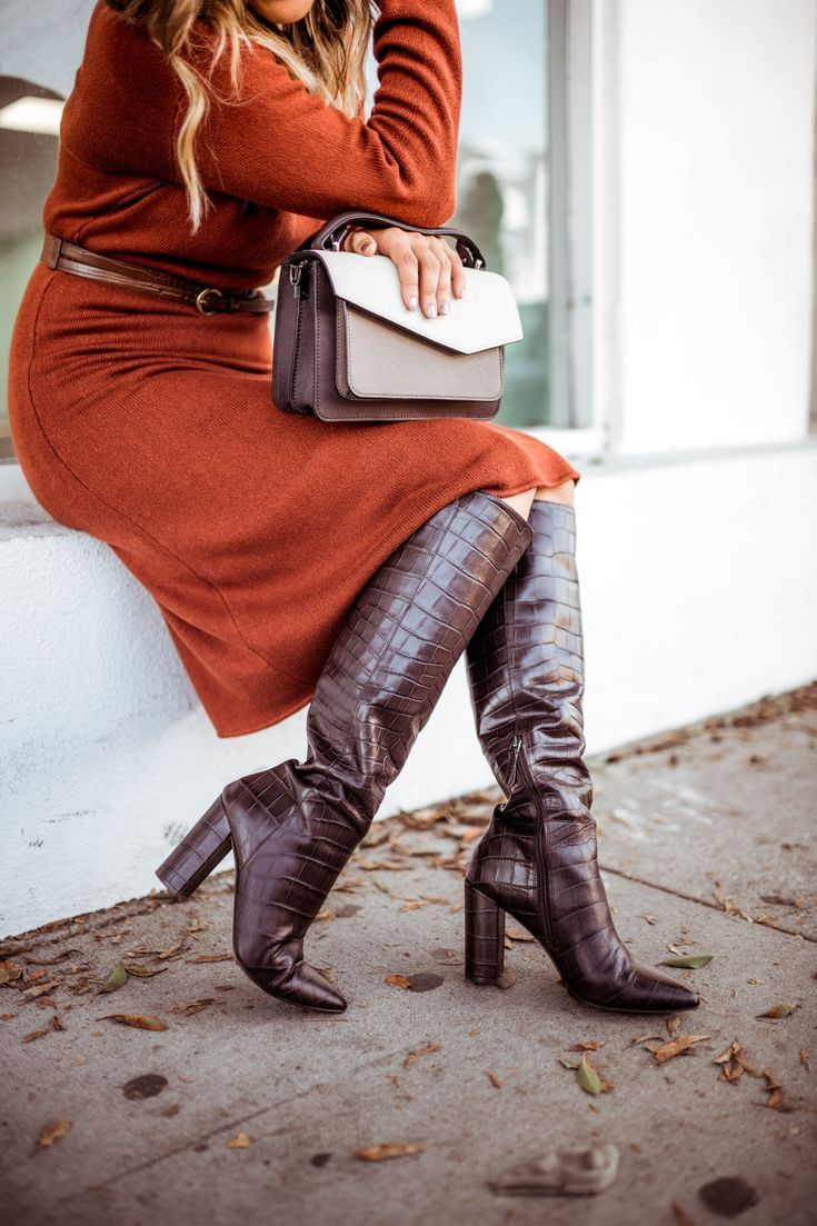 26+ Brown leather knee high boots ideas info