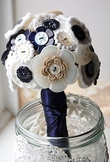 Not sure about the buttons, but the navy and cream colors are just what I've been looking for!
