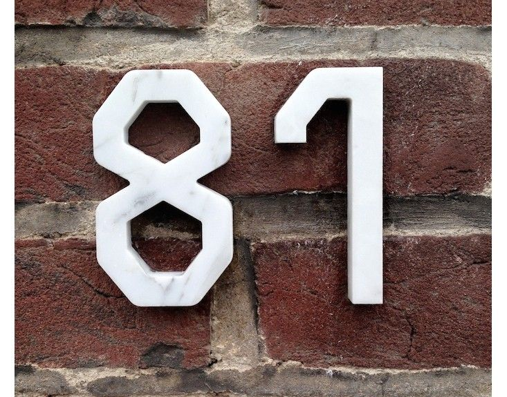 Marble House Numbers Gardenista House Pinterest