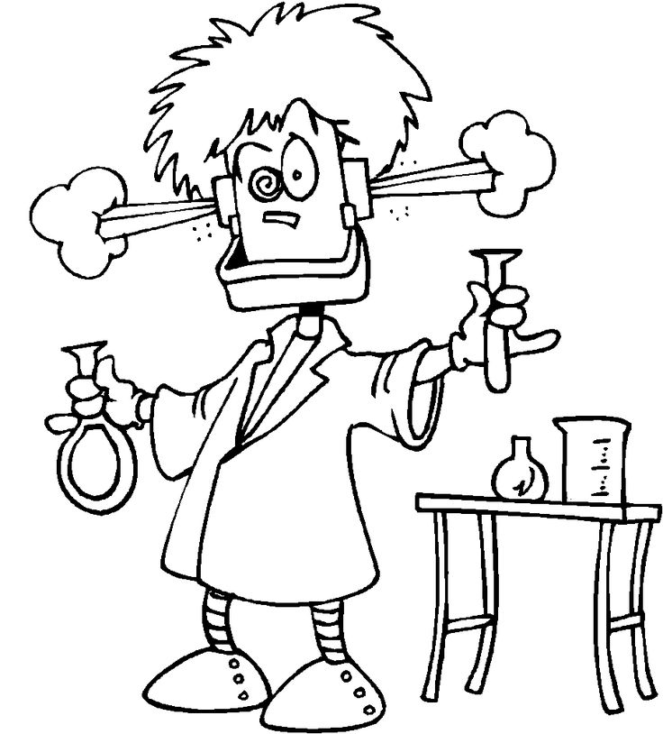 FREE printable science coloring page.