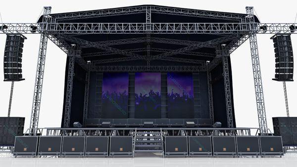 3d Model Concert Scene V2 Concert Stage Design Stage Set Design Stage Design
